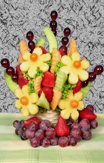 son muy recomendadas cuando de centros de mesa con frutas se trata