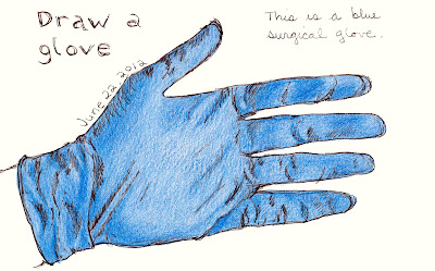 Every Day in June #22 (EDM #246) - Draw some gloves - Pen and Ink with Coloured Pencil Rendered by © AnaTirolese