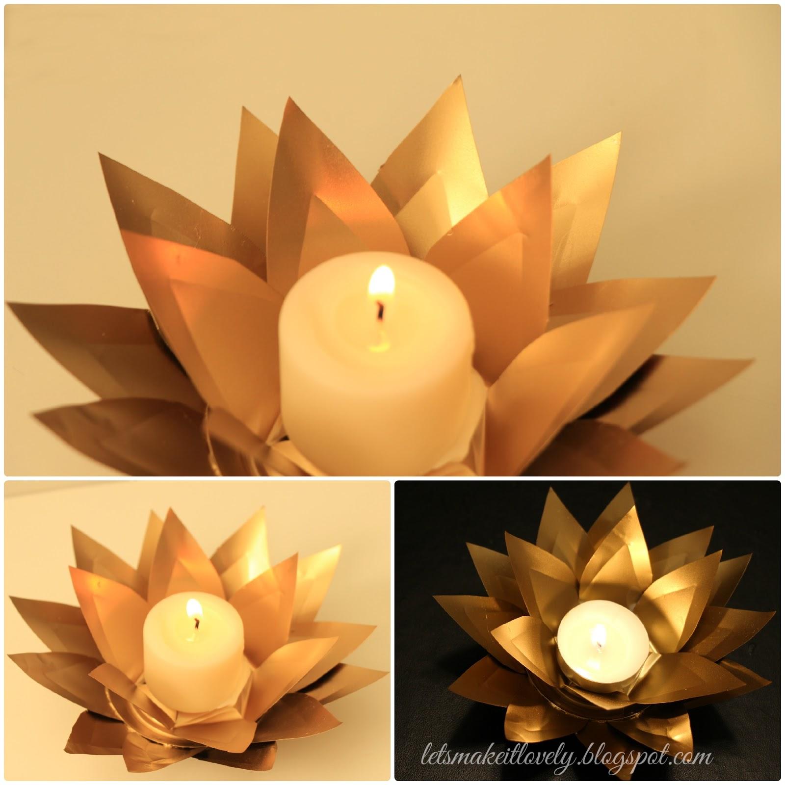 Turn Coke tins into beautiful Candle Votives. DIY Home Decor. Christmas or Diwali Decor.