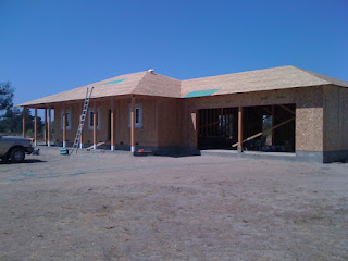 Exterior Sheathing is applied to framing package