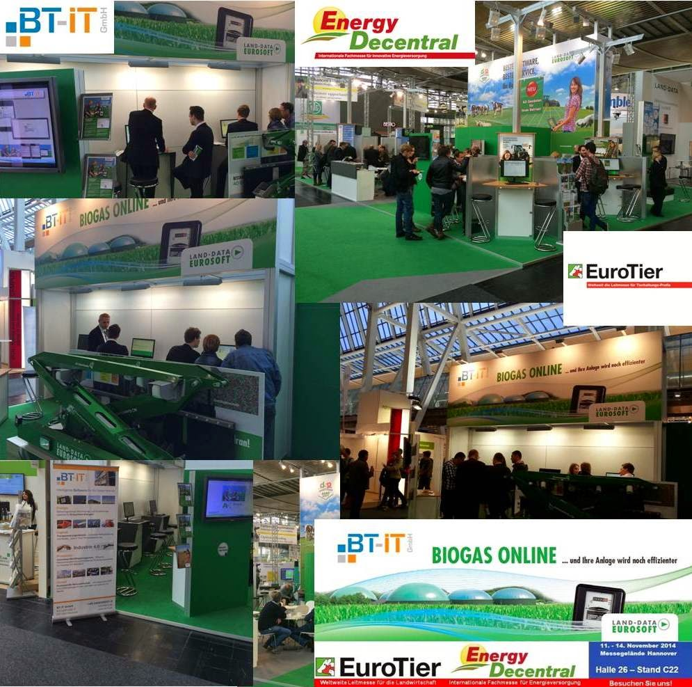 EuroTier 2014:  Software für Biogasanlagen - BT-IT GmbH