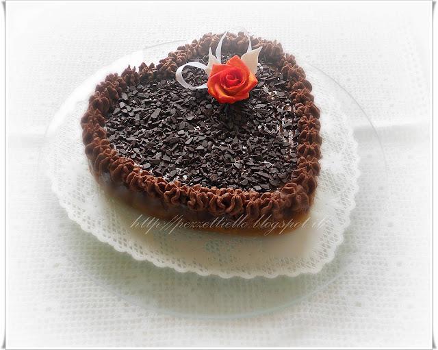 Crostata al cioccolato a cuore