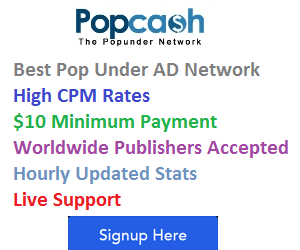 popcash review popunder ad network