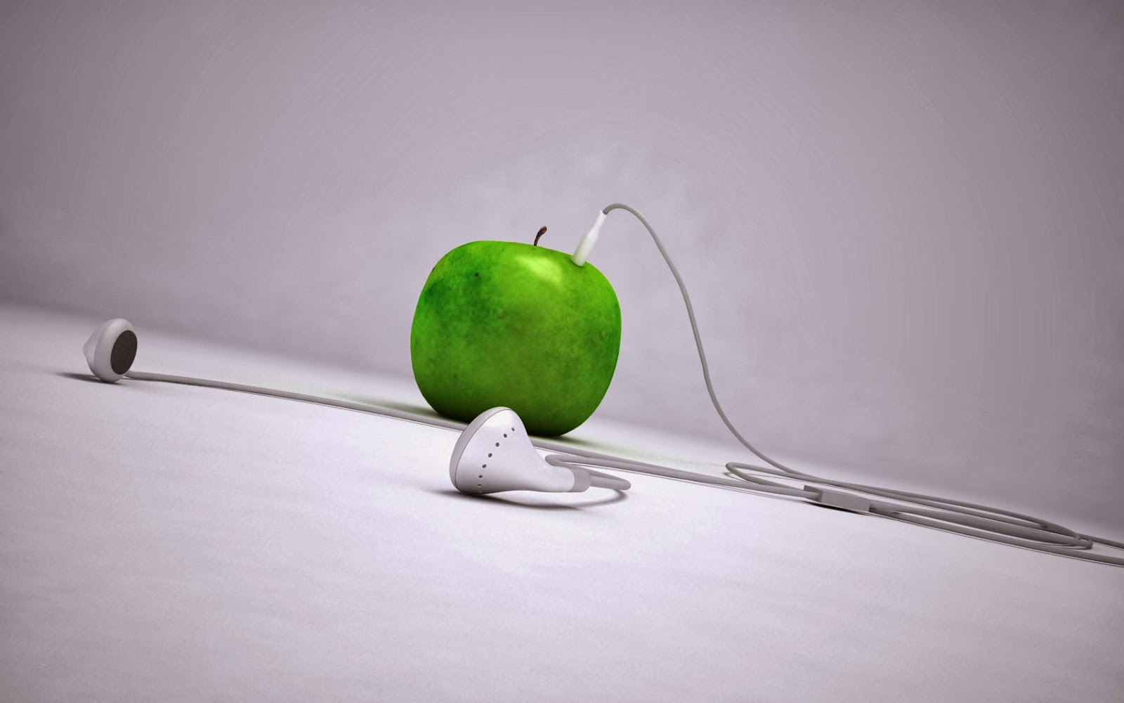 funny apple device fruit hd wallpapers - godimages