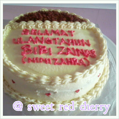 Sweet red cherry: BIRTHDAY CAKE: RED VELVET CAKE