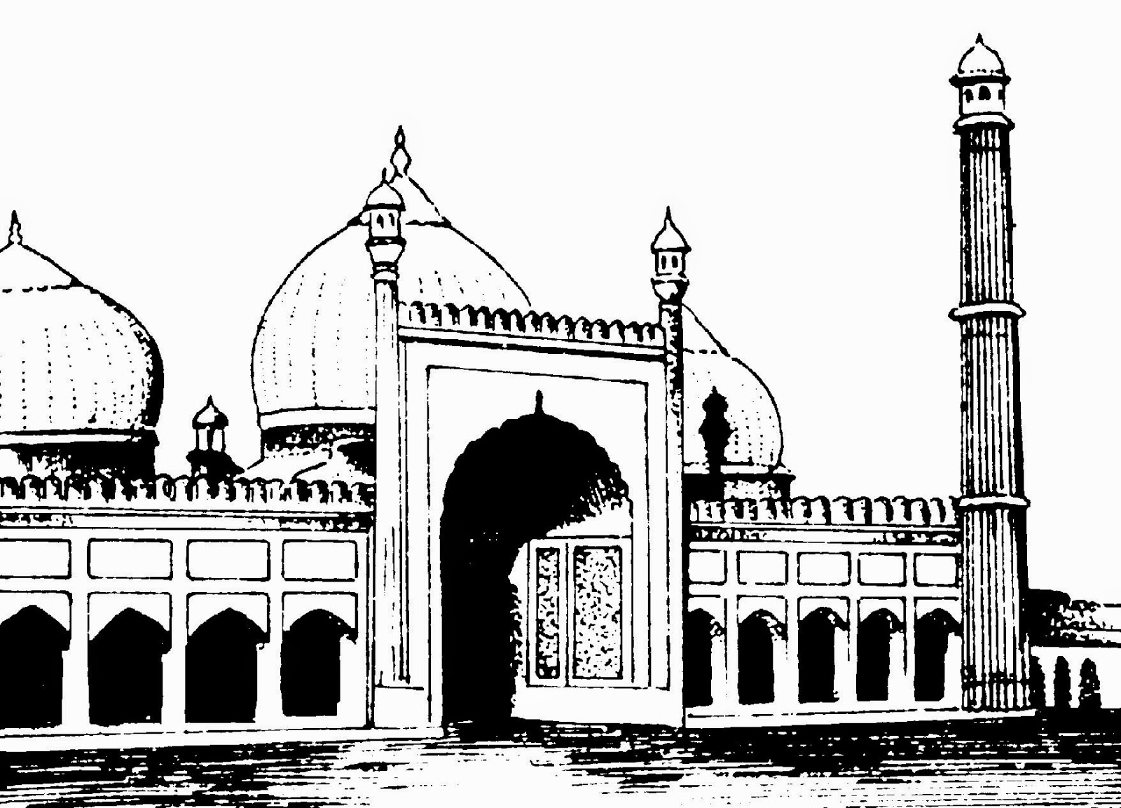 Line Drawing Of Qutub Minar : Clip arts and images of india monuments line