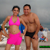 Meera Pakistani actress in Beach with her Previous Husband