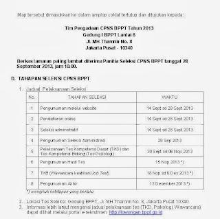 Tahapan seleksi Lowongan CPNS BPPT September 2013 dua