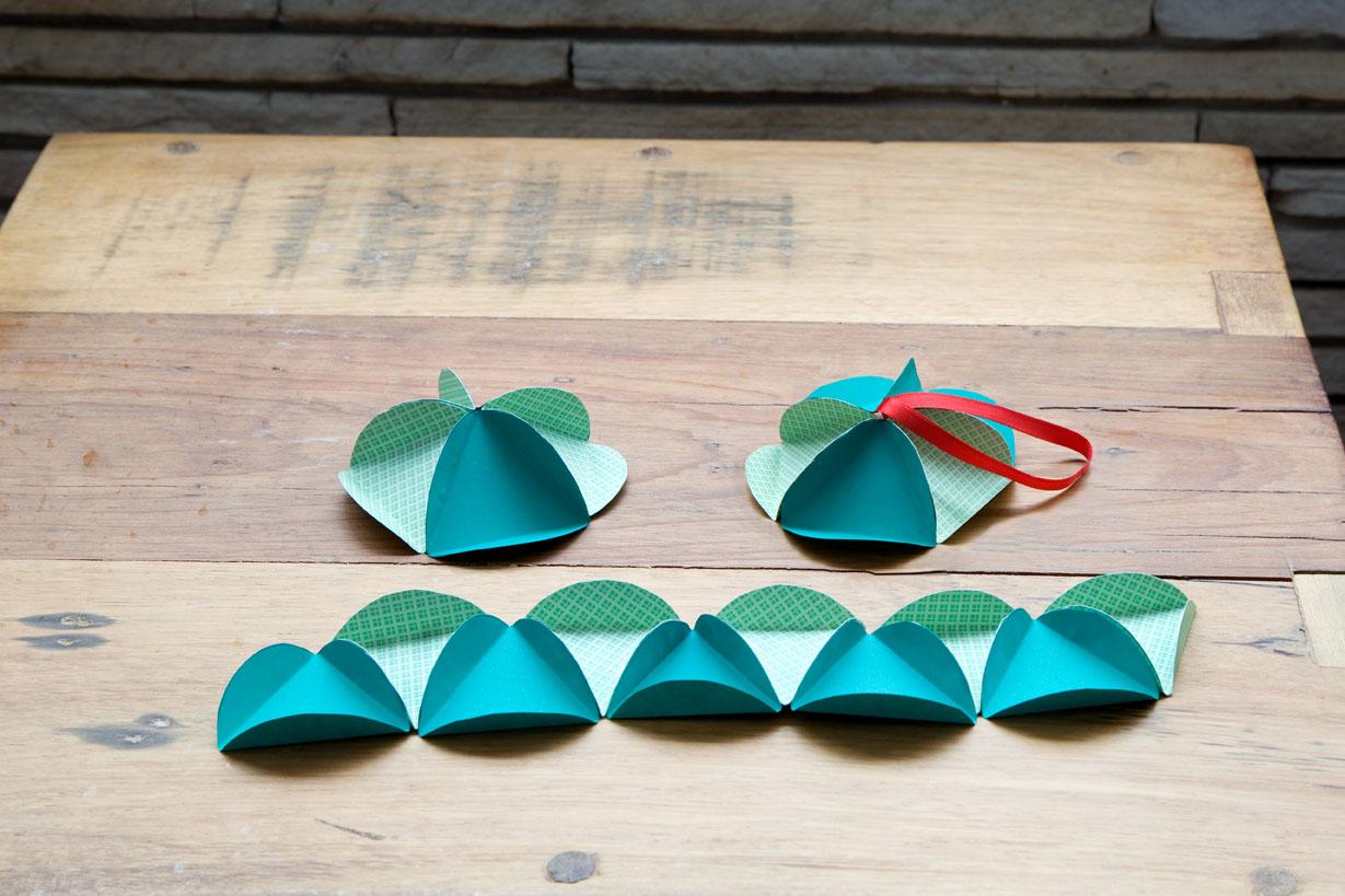 Artesanato Dos Estados Unidos ~ Artesanato, Criatividade e Afins Bola de Natal Origami, papel de Scrapbook