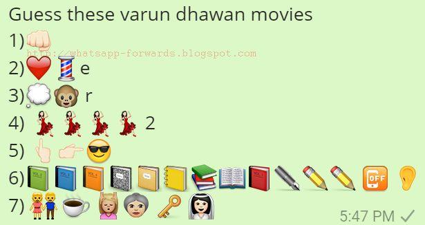 Guess these varun dhawan movies Whatsapp Quiz