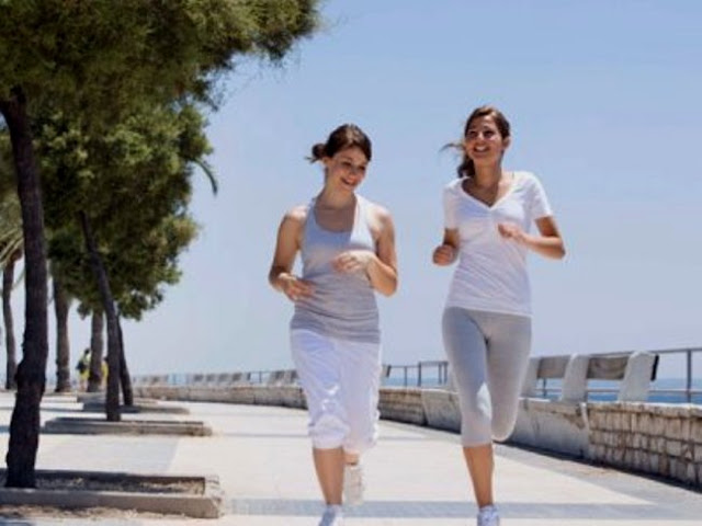 Girls Jogging To Stay Fit