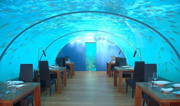 The world's first under-sea restaurant