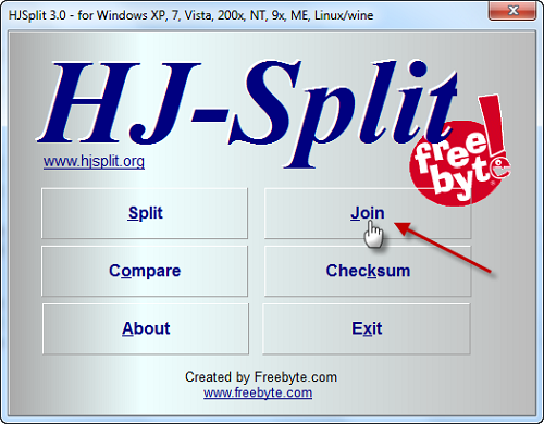 HJSplit UI Cara Menggabungkan File Video