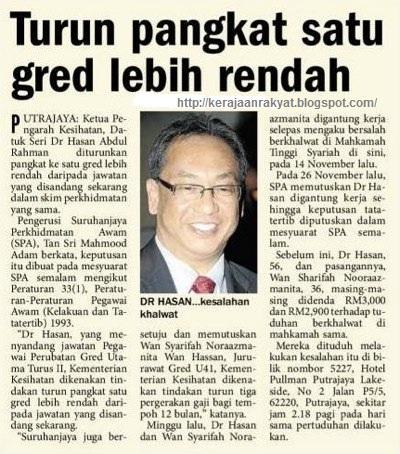 Datuk Seri Dr Hasan Abdul Rahman Wan Syarifah Nooraazmanita ditangkap khalwat