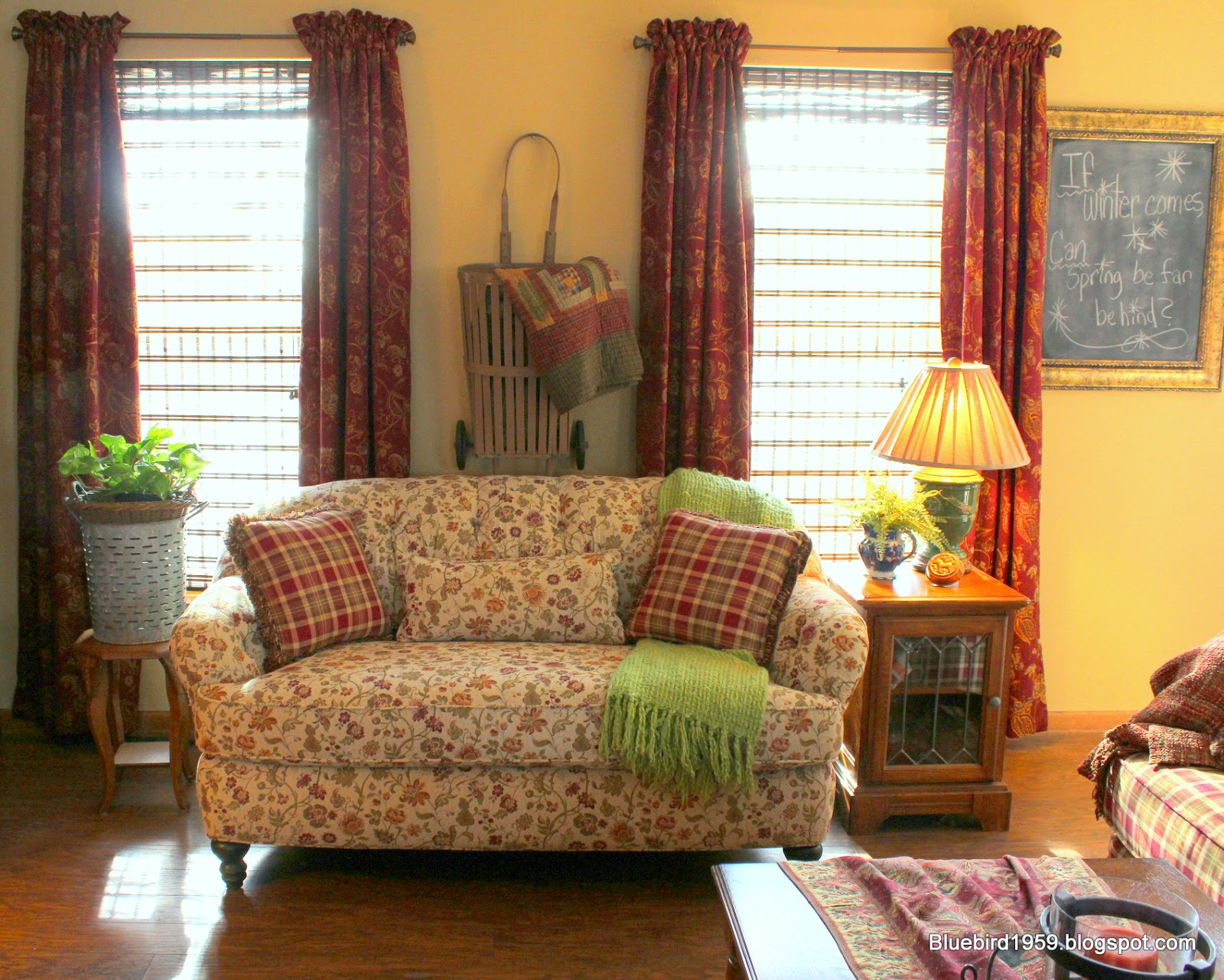 And Below, I Love Them With The Chair And Our Sofa (not Shown) Is In The  Same Plaid Fabric.