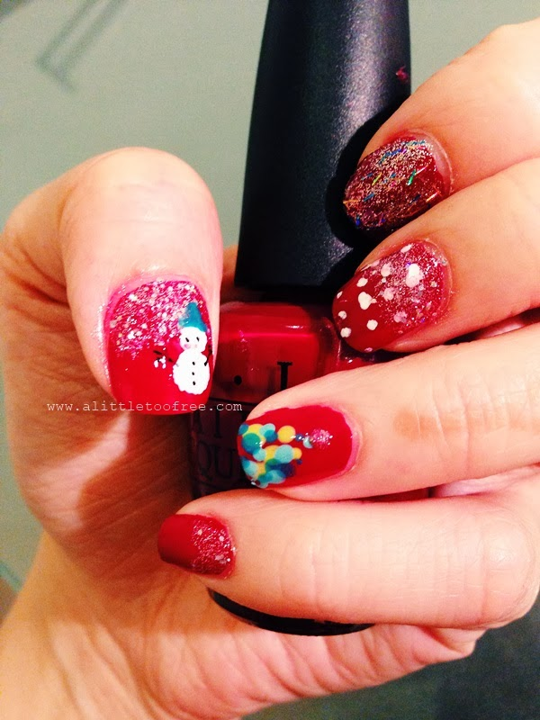 A Little Too Free Diy Festive Christmas Nails