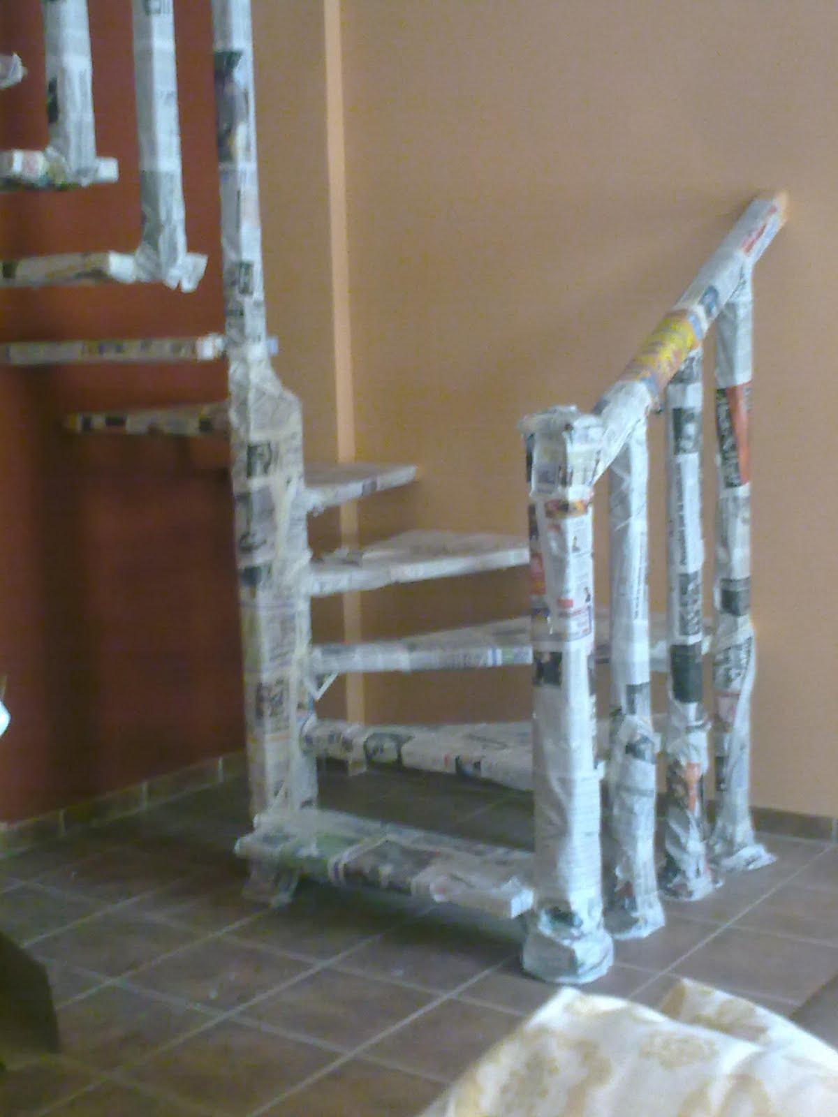 Carpinter a baena escalera de madera - Escaleras semi caracol ...