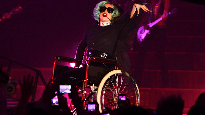 Lady Gaga Resorts to Wheelchair Use