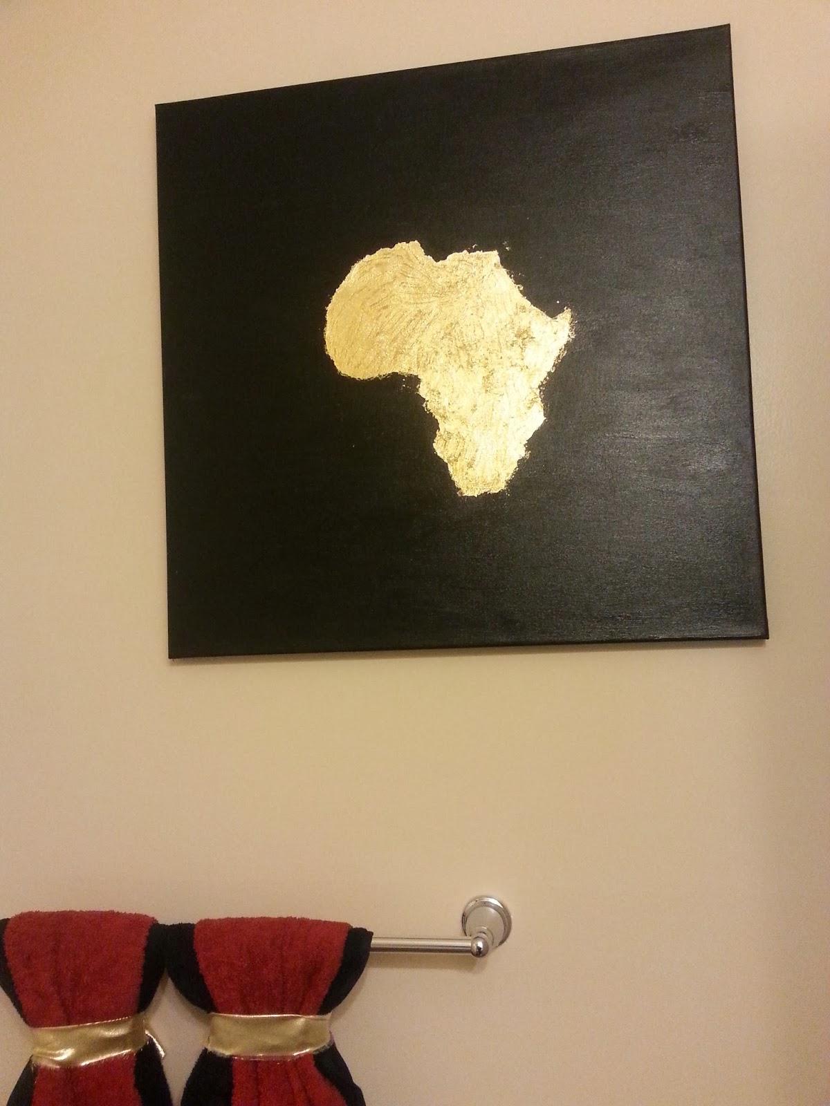 Life With My 3 Js DIY Bathroom Africa Art Canvas
