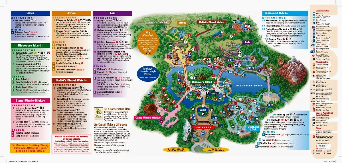 Mapa do Parque Disney Animal Kingdom