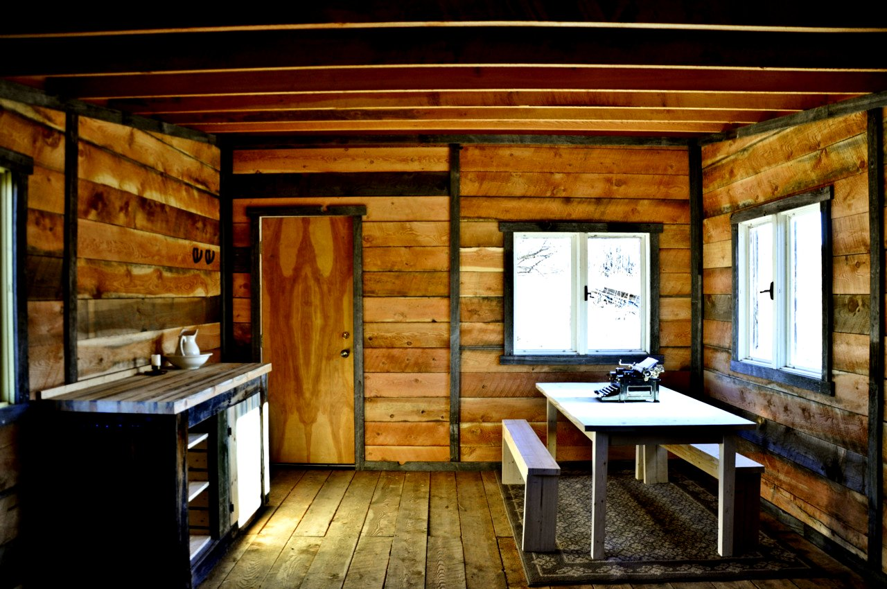 The flying tortoise tiny rustic cabin basic and beautiful - Interior pictures of small log cabins ...