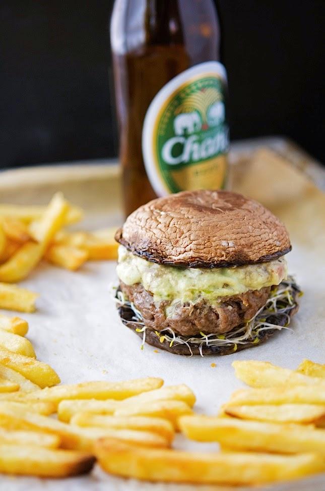 The Iron You Socal Guacamole Burgers On Portobello Mushroom Buns