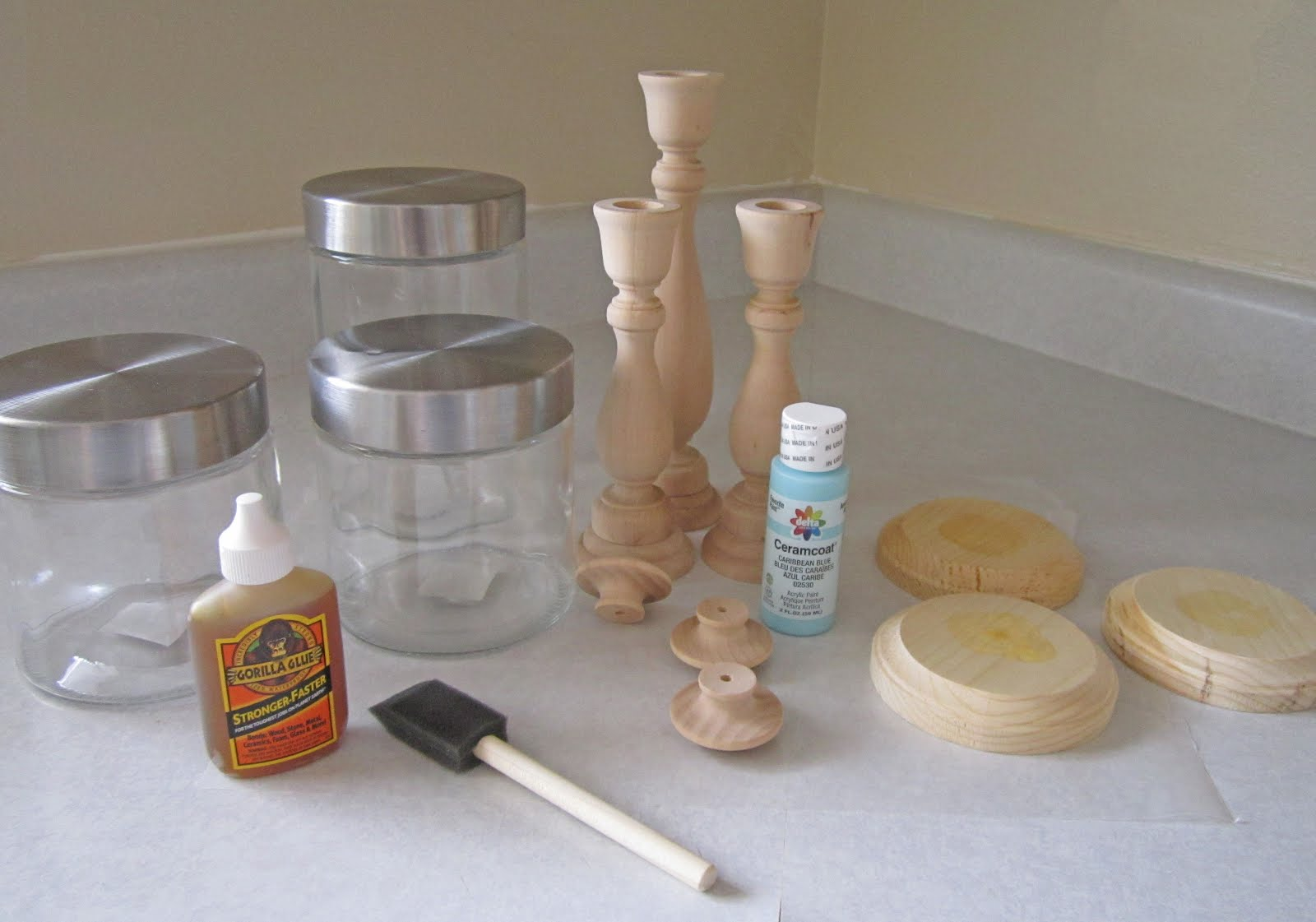 candlestick jar tutorial the wood connection blog