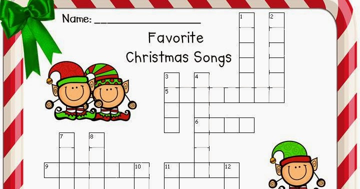 Classroom Freebies Too: Favorite Christmas Songs Word Search