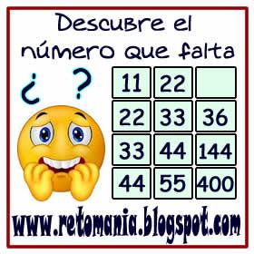 Acertijos, Acertijos matemáticos, Retos matemáticos, Desafíos matemáticos, Problemas de lógica, Problemas para pensar, Descubre el número, Cuál es el número que falta