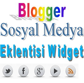 Blogger Sosyal Medya Eklentisi Widget