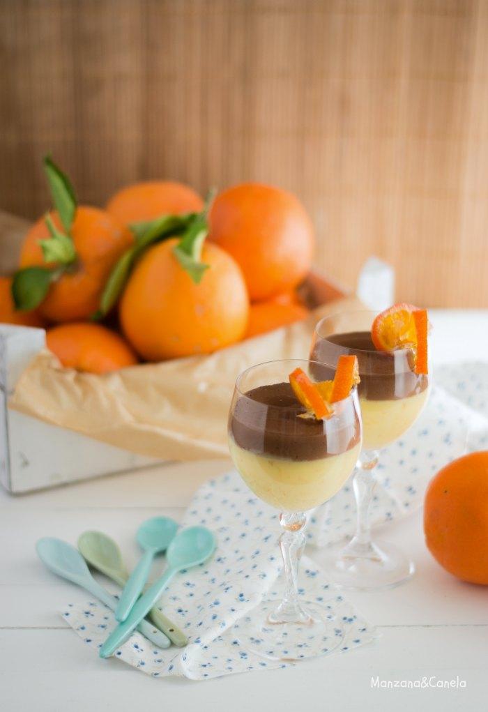 Cuajada de naranja y chocolate