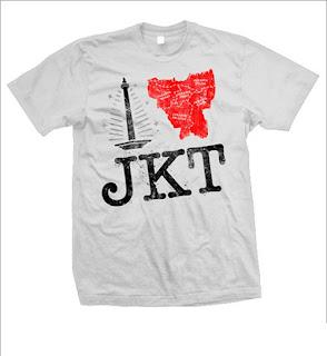 Kaos Distro I Love Jakarta | Distro Gaul