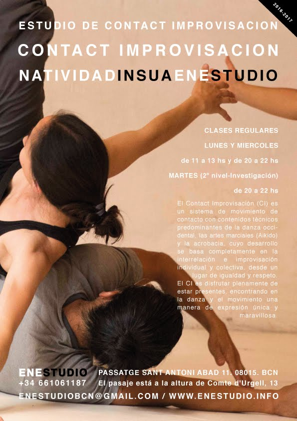 CONTACT IMPROVISACIÓN.CLASES REGULARES