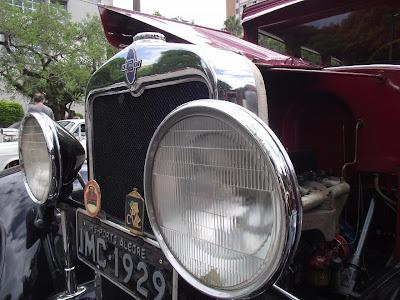 Chevrolet 1929: detalhe do radiador
