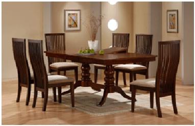 8 Seater Balero Dining Set Made of Mahogany Wood | Interiorconcept ...