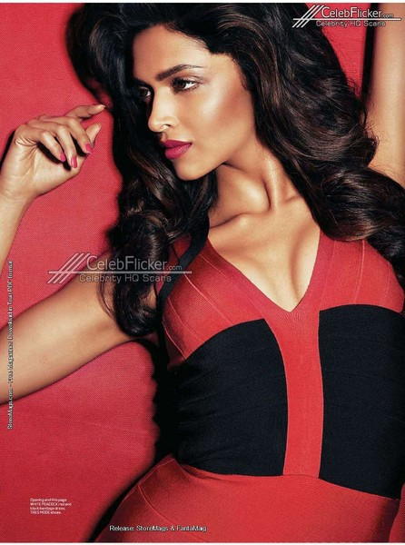 Sexy Deepika Red Hot Shoot For MAXIM August Magazine