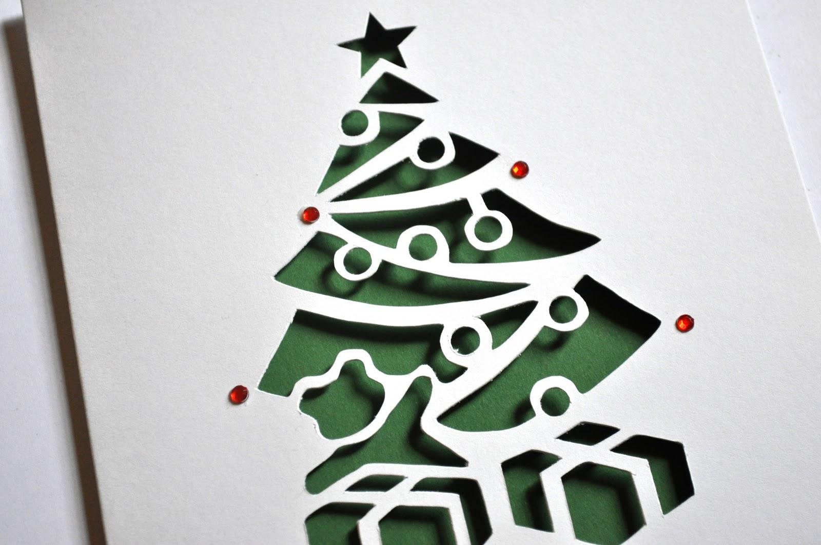 Sweet Pea Design Christmas Tree Laser Cut Card