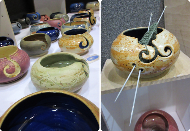 Yarn bowls - Knitting and Stitching Show