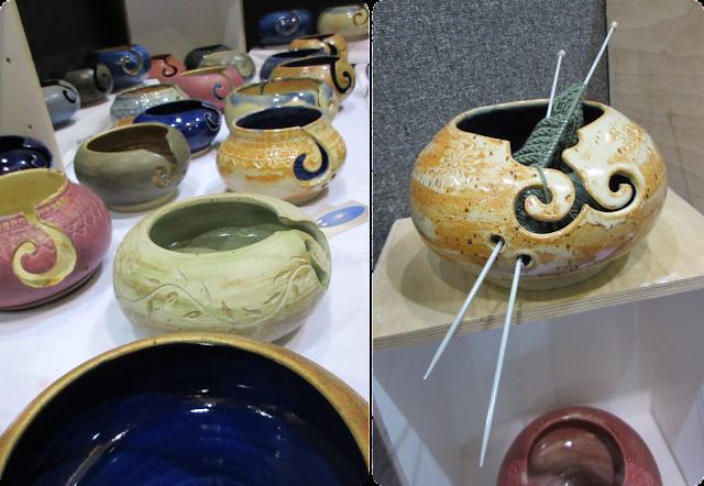 Yarn bowls - Knitting and Stitching Show