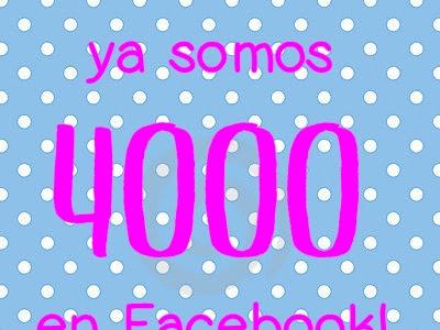 ¡Ya somos 4000 en Facebook!