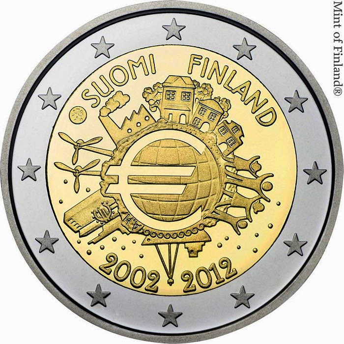 2 euro Finland 2012, Ten years of Euro cash