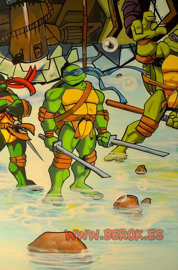 mural tortuga Ninja Leonardo