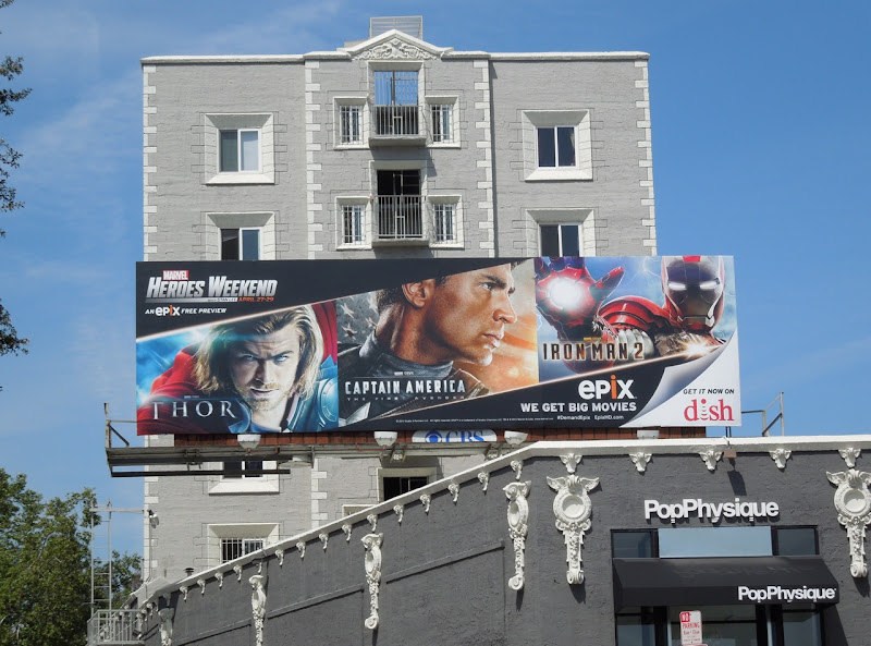 Epix Heroes Weekend billboard