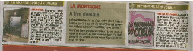 La Montagne centre france