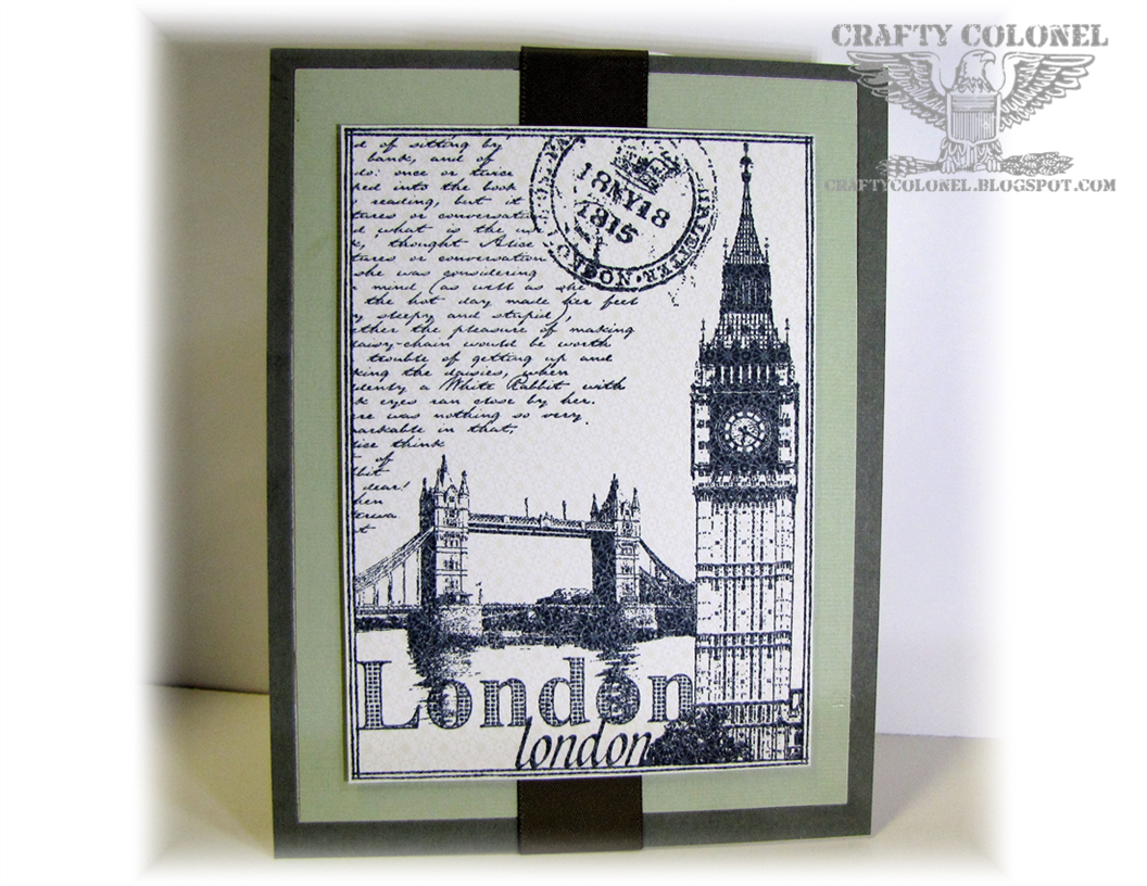 Club Scrap, Crafty Colonel, London Calling, Journey Card