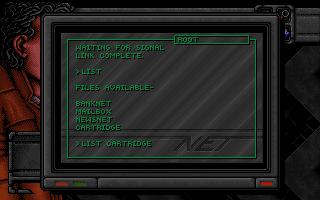 Dreamweb computer screen
