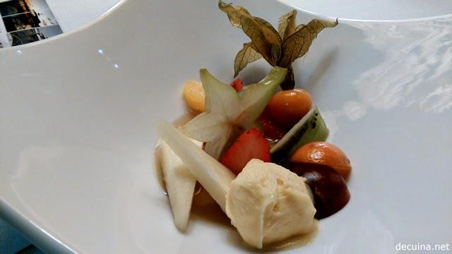 Fruites, gelat de mango i sopa de timó - La Giberga
