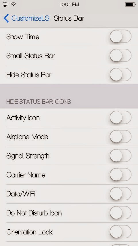 CustomizeLS Status Bar