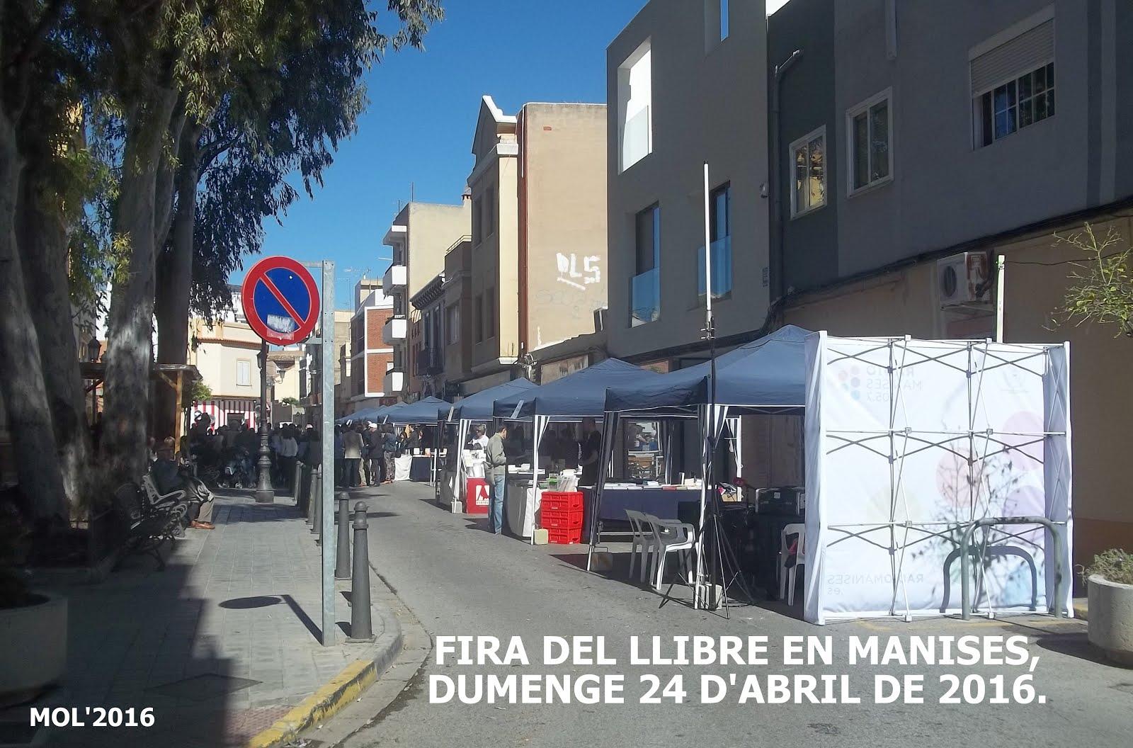 24.04.16 FIRA-FESTA DEL LLI- BRE, CASA CULTURA MANISES