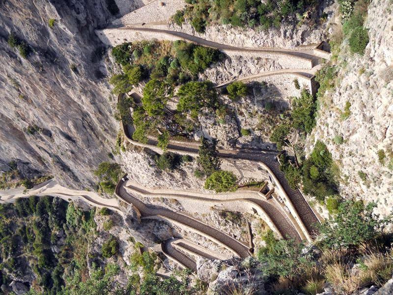 Via Krupp   Famous streets of the island of Capri, Italy